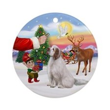 Treat for a Clumber Spaniel Ornament (Round)