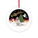 NightFlight-Clumber Spaniel Ornament (Round)
