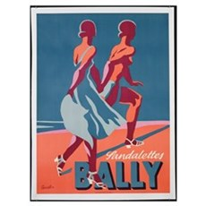 Advertisement for Bally sandals, 1935 (colour lith Framed Print