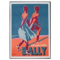 Advertisement for Bally sandals, 1935 (colour lith Poster