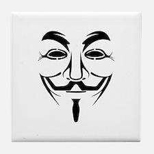 Fawkes Mask Tile Coaster