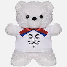 Fawkes Mask Teddy Bear