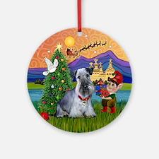 Xmas Fantasy-Cesky Terrier Ornament (Round)