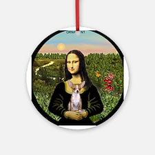 Mona Lisa & her Chihuahua Ornament (Round)