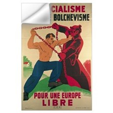 'Socialism Against Bolshevism for a Free Europe',  Wall Decal