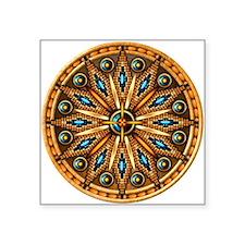 """Native American Rosette 09 Square Sticker 3"""" x 3"""""""