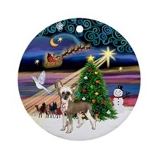 Xmasmagic-HL Chinese Crested Ornament (Round)