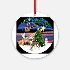 Xmasmagic-HL Chinese Crested Ornament (Round)