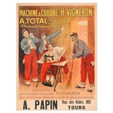 'Machine a Coudre H. Vigneron', poster advertising Framed Print