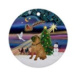 XmasMagic-SharPei Ornament (Round)