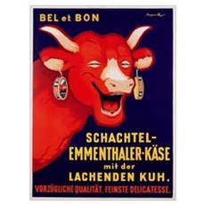 'Bel et Bon: Schachtel- poster advertising cheese, Framed Print