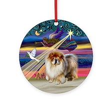 XmasAngel-Chow Chow Ornament (Round)