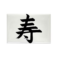 Happiness Kanji Rectangle Magnet