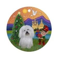 XmasFantasy-Coton de Tulear Ornament (Round)