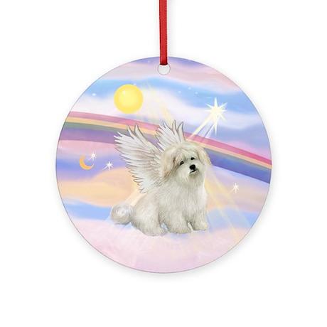 Clouds - Coton de Tulear Angel Ornament (Round)