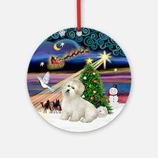 XmasMagic-Coton de Tulear Ornament (Round)