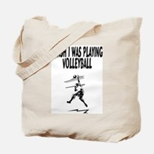 Playing Volleyball Tote Bag