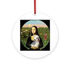 Mona Lisa's Dandi Dinmont Ornament (Round)