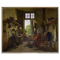 Interior of a Kitchen, 1815 (oil on canvas) Poster