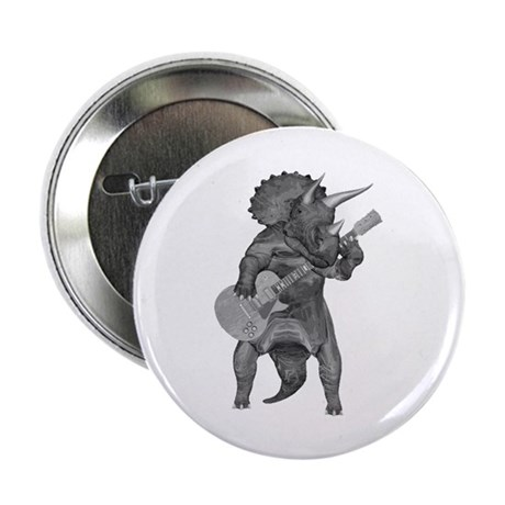 """Triceratops Rock 2.25"""" Button (10 pack)"""