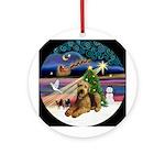 Xmas Magic-Airedale #5 Ornament (Round)