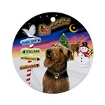 Xsigns - Airedale Ornament (round)