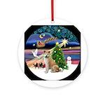 Xmas Magic-Akita/Akita Inu Ornament (Round)