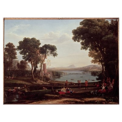 Landscape with the Marriage of Isaac and Rebekah ( Framed Print