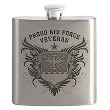 Proud Air Force Veteran Flask