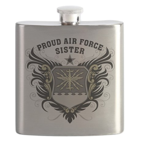 Proud Air Force Sister Flask