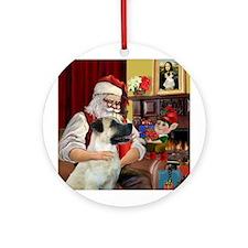 Santa's Anatolian Shep Ornament (Round)
