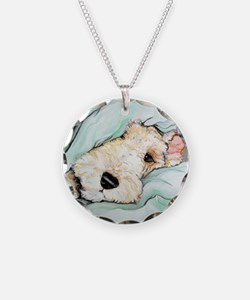 Napping Wire Fox Terrier Necklace