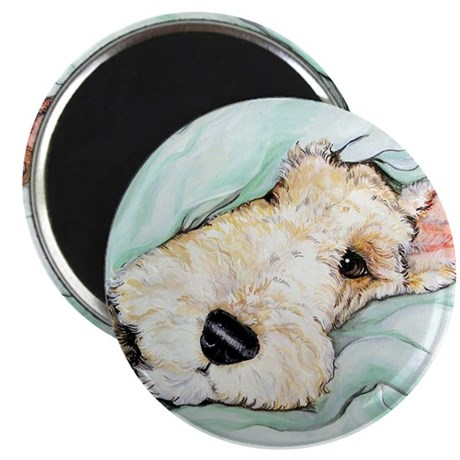 """Napping Wire Fox Terrier 2.25"""" Magnet (10 pack)"""