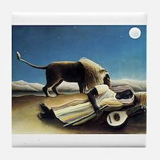 Henri Rousseau The Sleeping Gypsy Tile Coaster