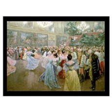 Court Ball at the Hofburg, 1900 (w/c) Poster