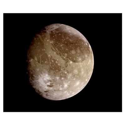 Jupiter's moon Ganymede Poster