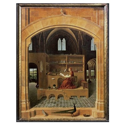 St. Jerome in his study, c.1475 (oil on panel) (se Poster