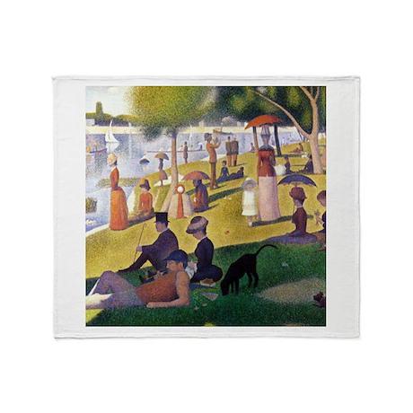 Georges Seurat La Grande Jatte Throw Blanket