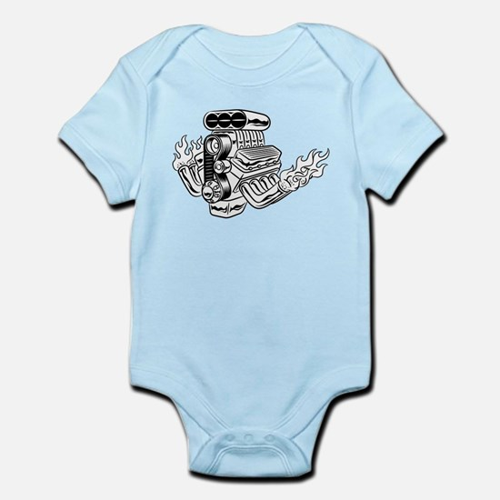 Hot Rod Engine Infant Bodysuit