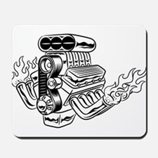 Hot Rod Engine Mousepad