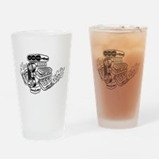 Hot Rod Engine Drinking Glass