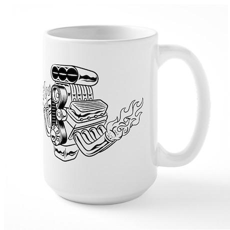 Hot Rod Engine Large Mug