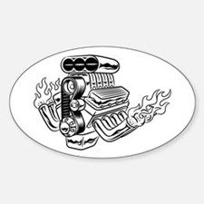 Hot Rod Engine Decal