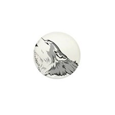 Wolf Mini Button (10 pack)