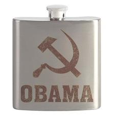Socialist Obama Flask