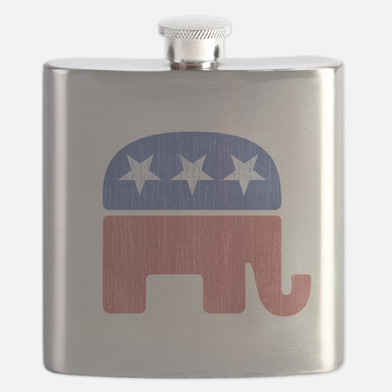 Old Republican Elephant Flask
