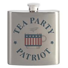 Tea Party Patriot Flask