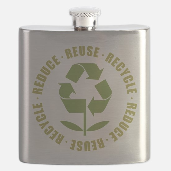 Reduce Reuse Recycle Flask