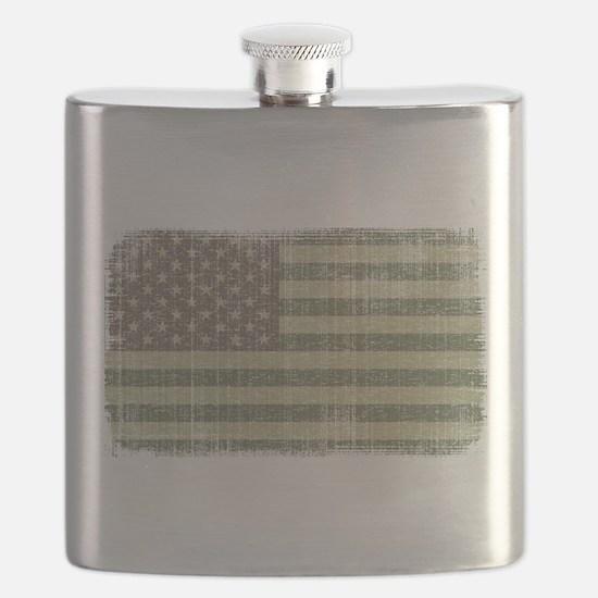 Camo American Flag [Vintage] Flask