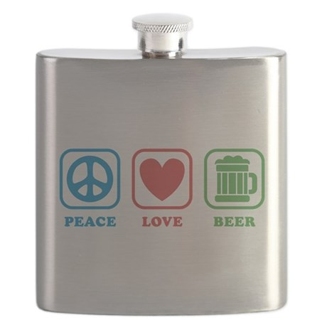 Peace Love Green Beer Flask